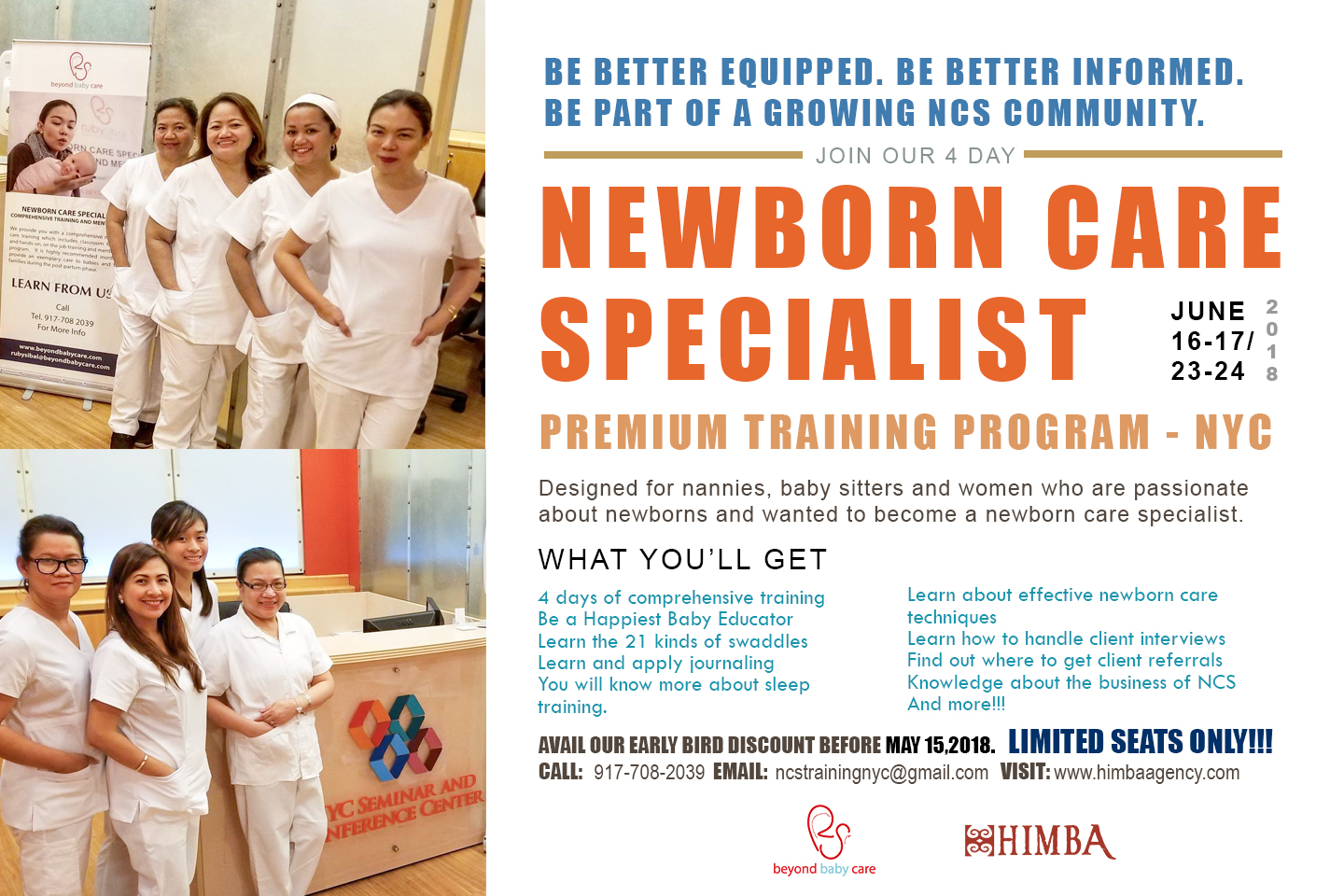 Newborn Care Specialist Training NYC June 2018